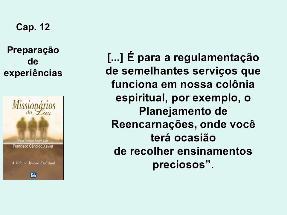 [...] É para a regulamentação de semelhantes serviços que
